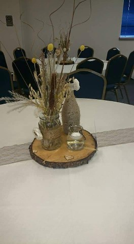 another beautiful wedding centrepiece