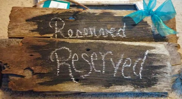wedding reserved wood sign